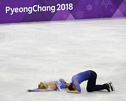 February 15, 2018 - Pyeongchang, KOREA - Aljona Savchenko and Bruno Massot of Germany compete in pairs free skating during the Pyeongchang 2018 Olympic Winter Games at Gangneung Ice Arena. (Credit Image: © David McIntyre via ZUMA Wire)