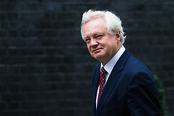 Downing Street, London, October 18th 2016. Secretary of State for Exiting the European Union David Davis arrives at the weekly cabinet meeting at 10 Downing Street in London.