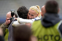 Joie PSG - Katarzyna Kiedrzynek - 26.04.2015 - Paris Saint Germain / Wolfsbourg - 1/2Finale Champions League feminine<br />Photo : Andre Ferreira / Icon Sport