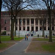 The Harry Elkins Widener Memorial Library, commonly known as Widener Library in Harvard Yard of the Harvard University