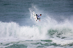Mason Ho (HAW) surfing in Qualifying Round 2 Heat 1 of the WSL Redbull Airborne event in Hossegor, France.