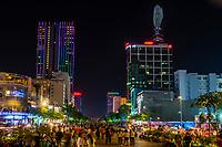 Nguyen Hue Street (a pedestrian street), Ho Chi Minh City (Saigon), Vietnam.