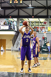 30 December 2006: Zak Silis shoots for free. The Titans outscored the Britons by a score of 94-80. The Britons of Albion College visited the Illinois Wesleyan Titans at the Shirk Center in Bloomington Illinois.<br />