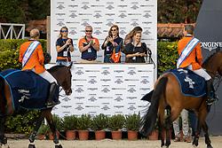 Team Netherlands, Boelhouwere Iris, Wagemakers Ad, <br /> Longines FEI Jumping Nations Cup Final<br /> Barcelona 2021<br /> © Hippo Foto - Dirk Caremans<br />  03/10/2021