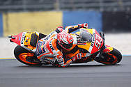 Elbow down style of race winner #93 Marc Marquez, Spanish: Repsol Honda Team during racing on the Bugatti Circuit at Le Mans, Le Mans, France on 19 May 2019.