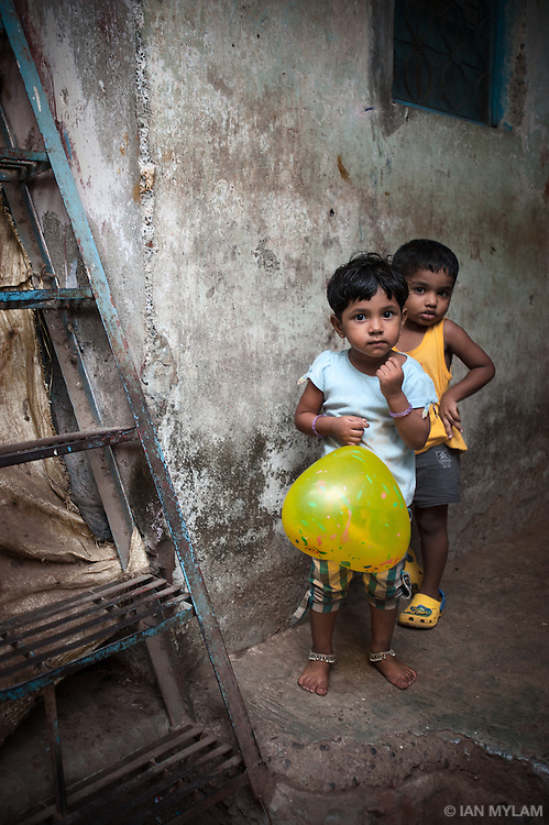 Boys with a Balloon - Dharavi, Mumbai, India