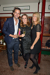 Left to right, CHARLIE GILKES, NATALIE PINKHAM and ANNEKE GILKES at a party to celebrate the opening of Cahoots - a new nightclub from the Inception Group at 13 Kingly Court, Soho, London on 26th February 2015.