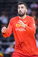 Spain's Pierre Oriole during friendly match for the preparation for Eurobasket 2017 between Spain and Venezuela at Madrid Arena in Madrid, Spain August 15, 2017. (ALTERPHOTOS/Borja B.Hojas)