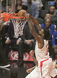 November 27, 2017 - Los Angeles, California, U.S - DeAndre Jordan #6 of the Los Angeles Clippers dunks the ball during their game with the Los Angeles Lakers on Monday November 27, 2017 at the Staples Center in Los Angeles, California. Clippers vs Lakers. (Credit Image: © Prensa Internacional via ZUMA Wire)