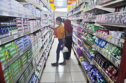 Customers seen wearing mask while walking at the Ramayana shooping centre in Medan, Indonesia on April 19, 2020 amid Corona Virus Disease-19 (DOVID-19) outbreak. The Indonesian government urges the nation to maintained the new health protocols in daily life as the physical and social distance during carrying out economic activities amid the COVID-19 outbreak and towards the holy Ramadan. Photo by Sutanta Aditya/ABACAPRESS.COM