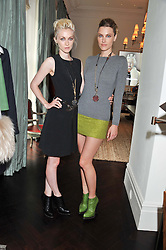 Left to right, PORTIA FREEMAN and SARA BRAJOVIC wearing Fay at an exclusive preview of fashion label Fay latest collections held at 21 Collingham Road, London SW5 on 12th June 2012.