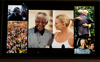 Video images of former South African President Nelson Mandela, Apartheid Museum, Johannesburg, South Africa.