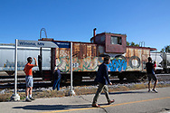 Ett kort stopp i Winona, Minnesota, ger möjlighet att sträcka på benen.<br /> <br /> Foto: Christina Sjögren