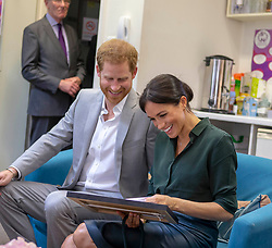 The Duke and Duchess of Sussex during a visit to Survivors' Network in Brighton, East Sussex, a charity that supports<br /> survivors of sexual violence and abuse in Sussex.