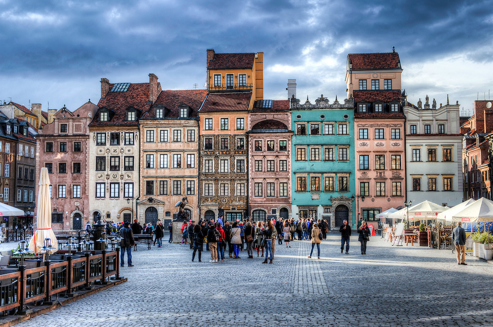 Warsaw old city square