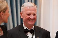 "13 JAN 2011, BERLIN/GERMANY:<br /> Prof. Dr. Eberhard Juengel DD, Kanzler des Ordens ""Pour le merite"" fuer Wissenschaften und Kuenste, Neujahrsempfang des Bundespraesidenten, Schloss Bellevue<br /> IMAGE: 20110113-01-017<br /> KEYWORDS: Eberhard Jüngel"