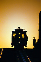California Street cable car on Nob Hill, San Francisco, California