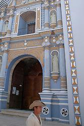 North America, Mexico, Oaxaca Province, Ocotlan, restored Templo de Santo Domingo church, built in the 16th century