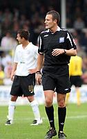 Photo: Mark Stephenson.<br /> Hereford United v Brentford. Coca Cola League 2. 06/10/2007.Referee Mr D Deadman