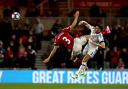 George Friend of Middlesbrough is fouled by Billy Jones of Sunderland - Mandatory by-line: Robbie Stephenson/JMP - 26/04/2017 - FOOTBALL - Riverside Stadium - Middlesbrough, England - Middlesbrough v Sunderland - Premier League