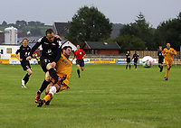 Photo: Rich Eaton.<br /> <br /> Carmarthen Town v SK Brann. UEFA Cup Qualifying. 19/07/2007. SK Brann's Robbie Winters fires in a second half shot.