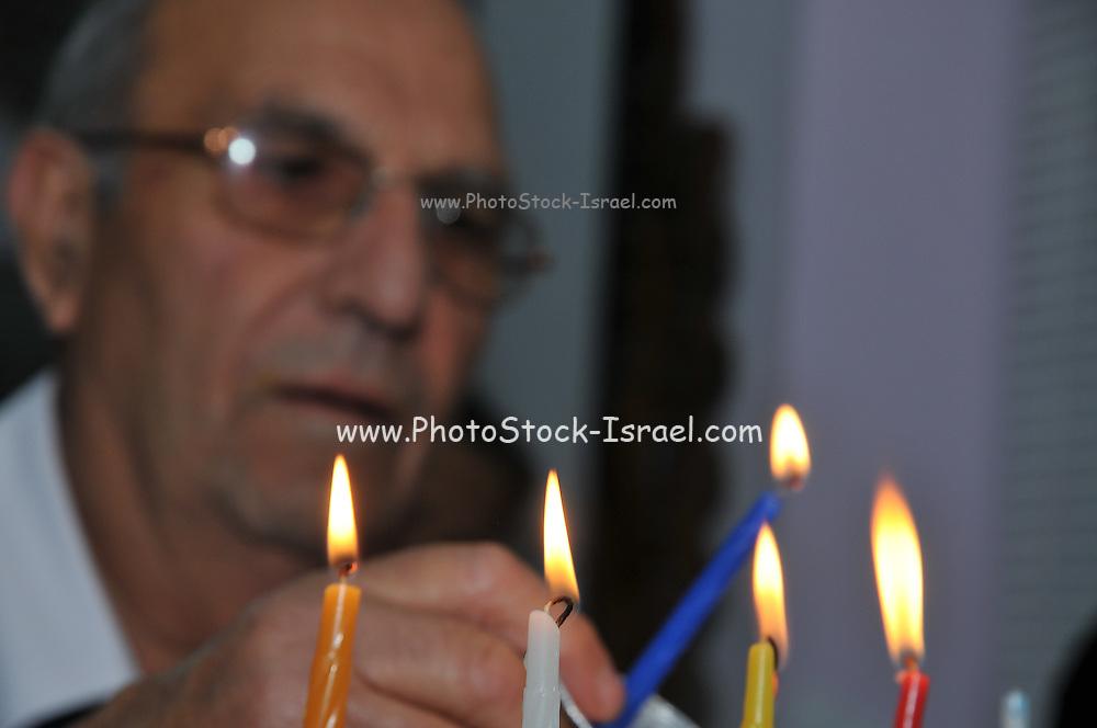 lighting the Chanukah Menorah