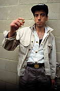 Mick Jones The Clash backstage at the Manchester Apollo 1980