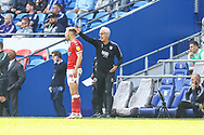 Cardiff City Manager Mick McCarthy shouts instructions to his team from the dug-out during the EFL Sky Bet Championship match between Cardiff City and Bristol City at the Cardiff City Stadium, Cardiff, Wales on 28 August 2021.
