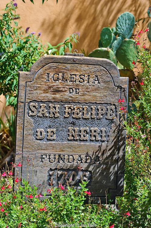 Albuquerque Old City, New Mexico, USA.Church of San Felipe De Neri, founded 1706.