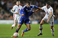 Joe Walsh of MK Dons holds onto  Ruben Loftus-Cheek of Chelsea. The Emirates FA cup, 4th round match, MK Dons v Chelsea at the Stadium MK in Milton Keynes on Sunday 31st January 2016.<br /> pic by John Patrick Fletcher, Andrew Orchard sports photography.