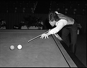 Benson and Hedges Masters Snooker.  (N62)..1981..19.02.1981..02.19.1981..19th February 1981..The quarter final of the Benson and Hedges Masters Snooker competion was held tonight at Goffs , Kill, Co Kildare. The match would be contested between Terry Griffiths and Kirk Stevens...Kirk Stevens is pictured practicing ahead of his game against Terry Griffiths.