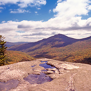 Autumn in Grafton Notch with a view from Table Rock. Newry, Maine
