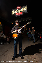 Dave Biller from the Vice Grip MC played incredible jazz guitar at the Continental Club on Sunday after the Handbuilt Motorcycle Show. Austin, TX. April 12, 2015.  Photography ©2015 Michael Lichter.