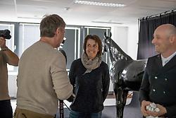 Henk van Cauwenbergh, Jeroen Devroe, Wendy Laeremans<br /> Foto shoot met Henk van Cauwenbergh voor KBRSF - Zaventem 2018<br /> © Hippo Foto - Dirk Caremans<br /> 01/05/2018
