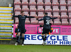 Dunfermline's Lewis Martin celebrates after scoring their second goal.half time : Dunfermline 4 v 0 Partick Thistle, Scottish Championship game played 30/11/2019 at Dunfermline's home ground, East End Park.