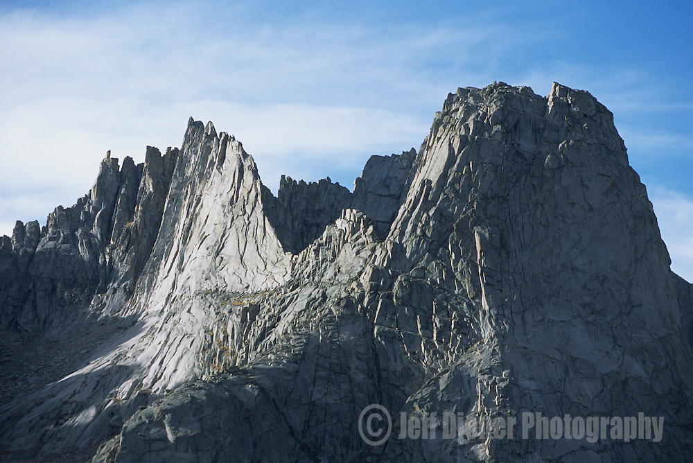 A jagged ridgeline in  the Cirque of the Towers, Wind River Mountains, Wyoming
