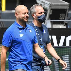 27.06.2020, xmeix, 1.Fussball Bundesliga, Borussia Dortmund - TSG 1899 Hoffenheim, empor. v.l.n.r, <br /> Hoffenheims Leiter Profifussbal Alexander Rosen mit Hoffenheims Pressesprecher Holger Kliem<br /> <br /> <br /> <br /> Foto: Sascha Meiser/APF/Pool/PIX-Sportfotos<br /> <br /> Nur für journalistische Zwecke!<br /> Only for editorial use!<br /> Nutzungsbedingungen: http://poolbilder.de/nutzungsvereinbarung.pdf<br /> <br /> Foto © PIX-Sportfotos *** Foto ist honorarpflichtig! *** Auf Anfrage in hoeherer Qualitaet/Aufloesung. Belegexemplar erbeten. Veroeffentlichung ausschliesslich fuer journalistisch-publizistische Zwecke. For editorial use only. DFL regulations prohibit any use of photographs as image sequences and/or quasi-video.