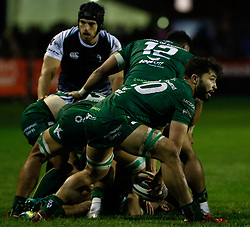 Colby Fainga'a of Connacht<br /> <br /> Photographer Simon King/Replay Images<br /> <br /> Guinness PRO14 Round 7 - Ospreys v Connacht - Friday 26th October 2018 - The Brewery Field - Bridgend<br /> <br /> World Copyright © Replay Images . All rights reserved. info@replayimages.co.uk - http://replayimages.co.uk