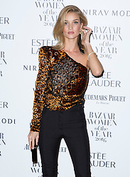 Rosie Huntington-Whiteley attending the Harper's Bazaar Woman of the Year awards at Claridges in London. Picture date: Monday October 31, 2016. Photo credit should read: Isabel Infantes / EMPICS Entertainment.