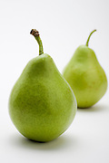 fresh, ripe Pears on white background