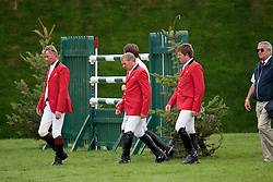 Team Belgium: Lansink Jos (BEL), Demeersman Dirk (BEL), Spits Patrick (BEL), Guerdat Philippe (SUI)<br /> The Longines Royal International Horse Show<br /> Hickstead 2011<br /> © Hippo Foto - Beatrice Scudo