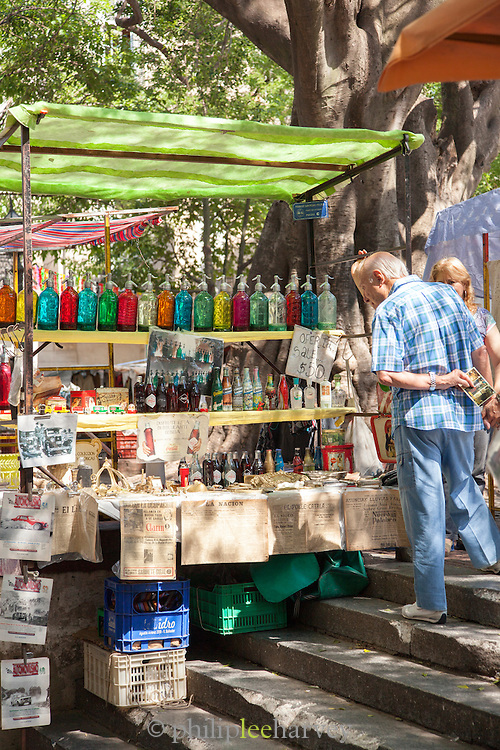 Market stall, San Telmo District, Buenos Aires, Argentina, South America