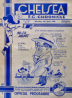 Fotball<br /> England<br /> Foto: Colorsport/Digitalsport<br /> NORWAY ONLY<br /> <br /> Chelsea historikk<br /> Joe Mears (Chelsea Chairman) appears on the front of the Chelsea Programme. 6/4/1940.
