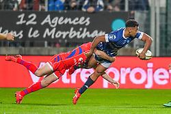 November 2, 2018 - France - BLY Kevin (RC Vannes) - SUCHIER Thibaud  (Credit Image: © Panoramic via ZUMA Press)