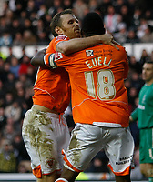 Photo: Steve Bond/Richard Lane Photography. Derby County v Blackpool. Coca-Cola Championship. 26/12/2009. Brett Ormerod with Jason Euell after the first goal