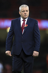 Wales head coach Warren Gatland before the Autumn International at the Principality Stadium, Cardiff.