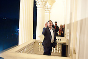 new director of the ICA: GREGOR MUIR, Ourhouse Nathaniel Mellors opening. ICA. The Mall. London. 8 March 2011. -DO NOT ARCHIVE-© Copyright Photograph by Dafydd Jones. 248 Clapham Rd. London SW9 0PZ. Tel 0207 820 0771. www.dafjones.com.