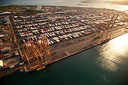 Matson container yard, sand island, Honolulu, Oahu, Hawaii