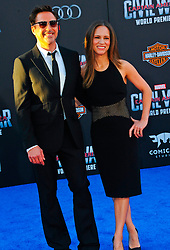 """Robert Downey Jr, Susan Downey 04/12/2016 World Premiere of Marvel's """"Captain America: Civil War"""" held at Dolby Theater in Hollywood, CA. EXPA Pictures © 2016, PhotoCredit: EXPA/ Photoshot/ Albert L. Ortega<br /> <br /> *****ATTENTION - for AUT, SLO, CRO, SRB, BIH, MAZ, SUI only*****"""