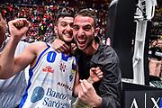Marco Spissu, Andrea Picarelli<br /> AX Armani Exchange Olimpia Milano - Banco di Sardegna Dinamo Sassari<br /> LBA Serie A Postemobile 2018-2019 Playoff Semifinale Gara 2<br /> Milano, 31/05/2019<br /> Foto L.Canu / Ciamillo-Castoria